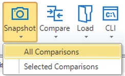Aireforge Database Snapshot Comparison Save Options